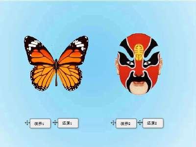 22,轴对称图形——脸谱与蝴蝶-蝴蝶简笔画对称图形图片