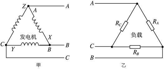 在三相交流电路中,星形接法不是简单的串并联,不要认为线电压是相电压